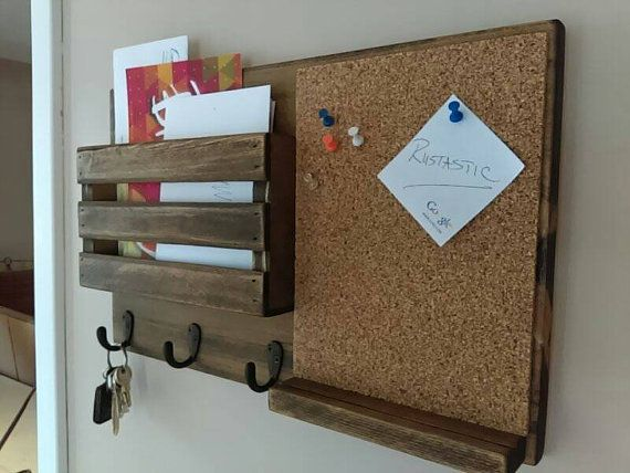 corkboard mail organizer mail holder mail rustic organizer key holder mail organizer. Black Bedroom Furniture Sets. Home Design Ideas
