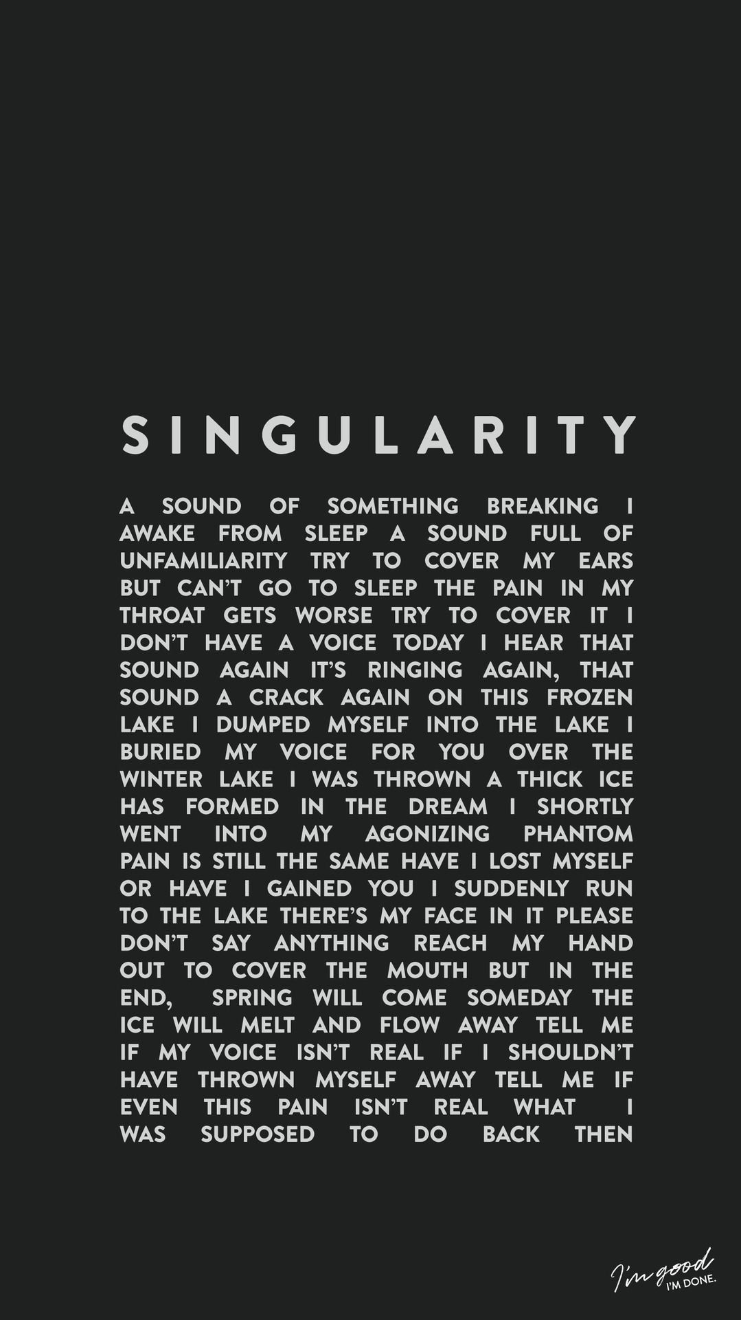 Bts Intro Singularity Wallpaper Lockscreen Bangtan Kpop