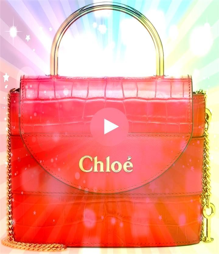 Aby Lock Small leather shoulder bag Chlo Aby Lock Small leather shoulder bag  Chloé Kleine Abylock Handtasche  Rot ChloéChloé Chloe Aby Lock CrocoEmb...