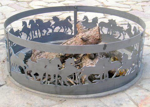 Horses Metal Fire Ring