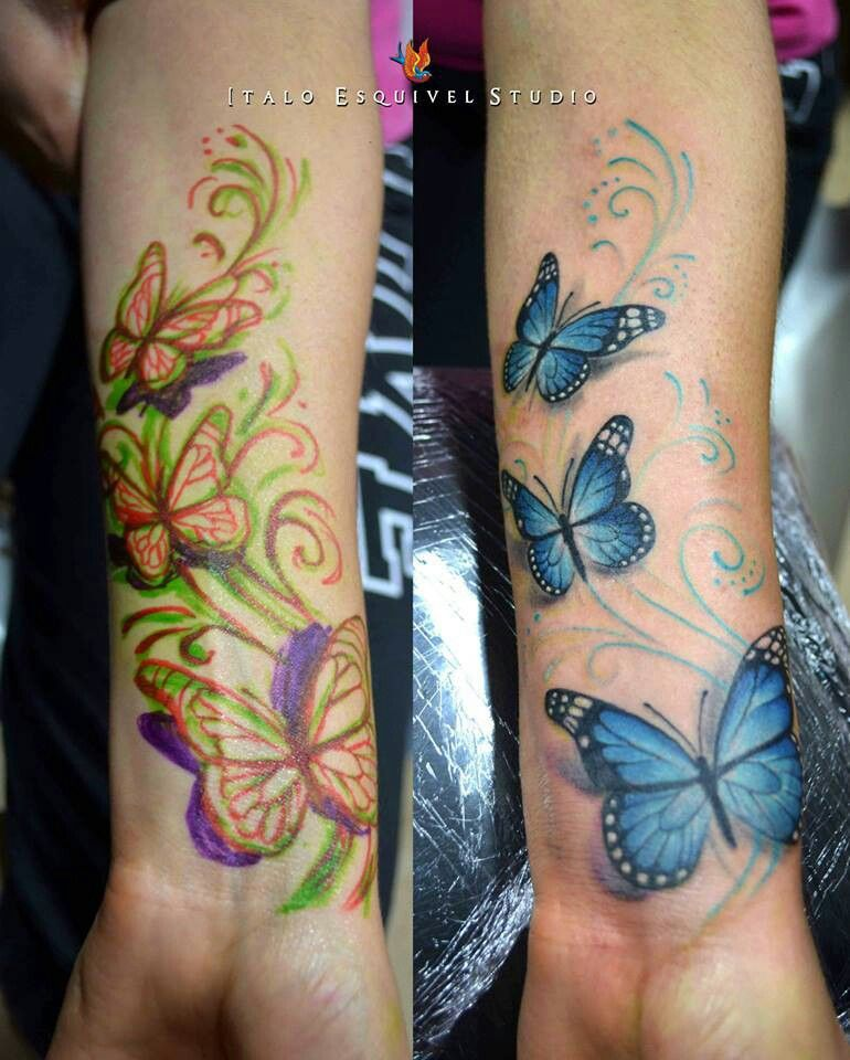 Good idea for a cover up on my wrist. Wrist tattoo cover