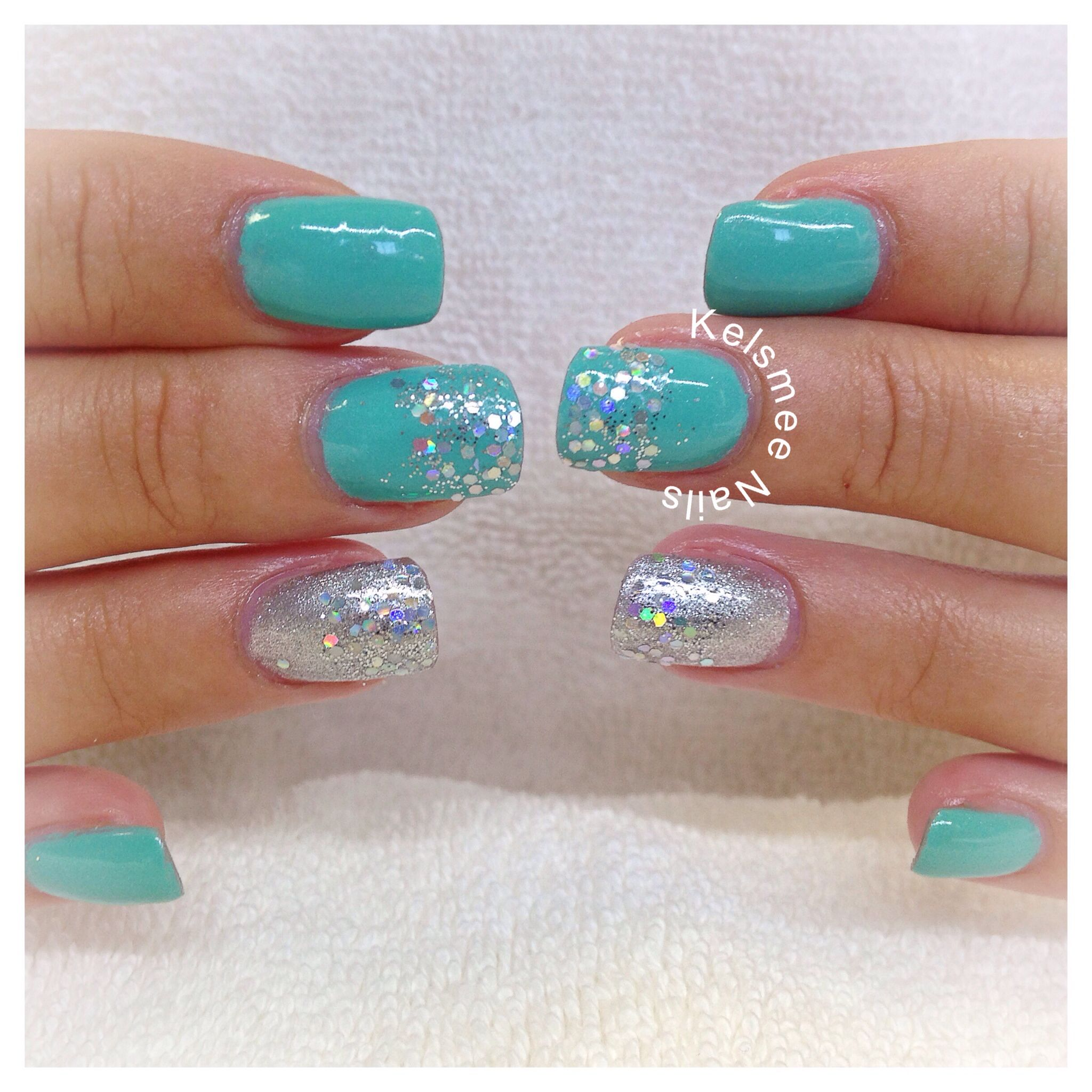 Young Nails ManiQ overlay turquoise And silver | Nails | Pinterest ...