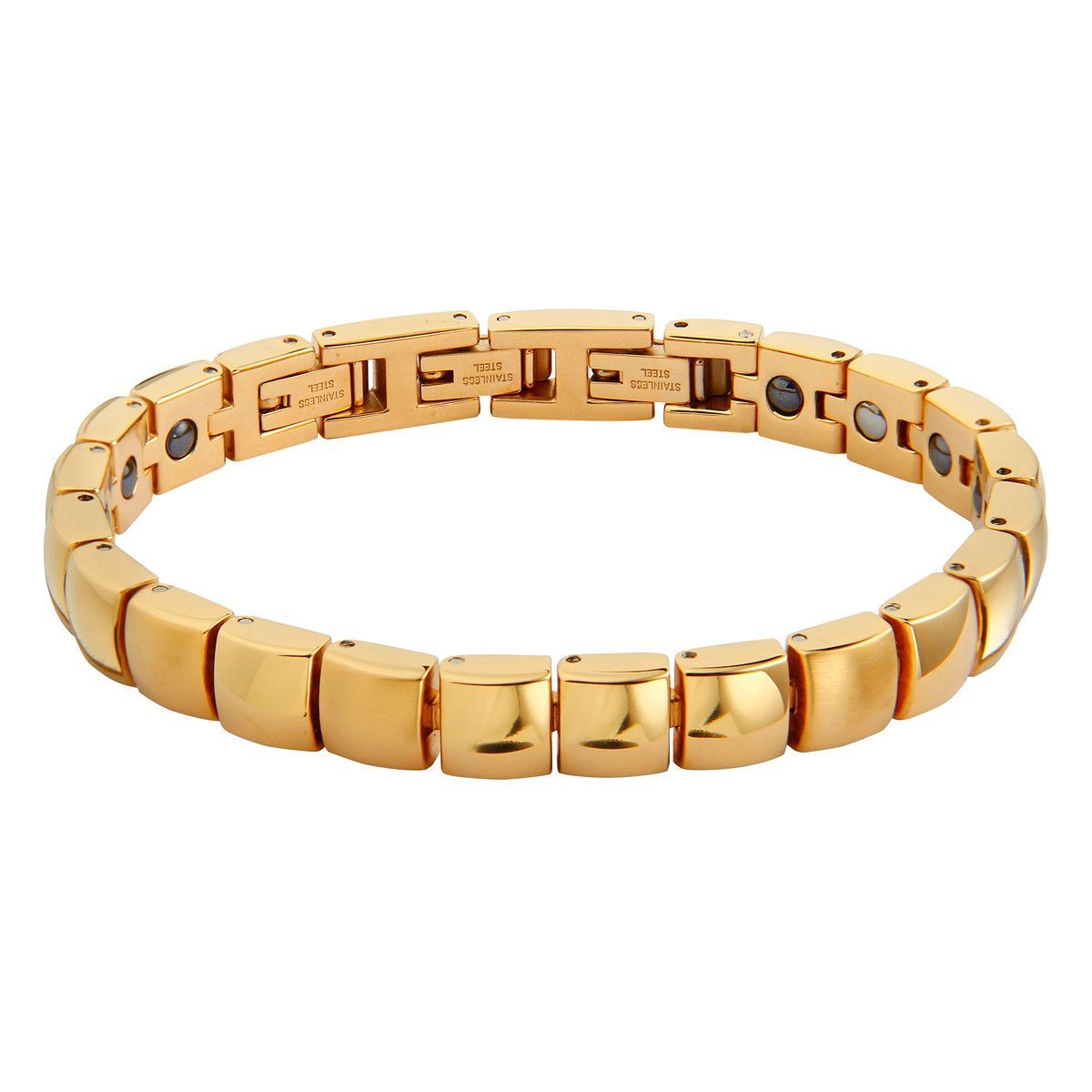 The Squares Magnetic Health Bracelet - Gold