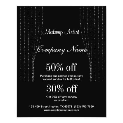 makeup artist business personalized flyer customize create your