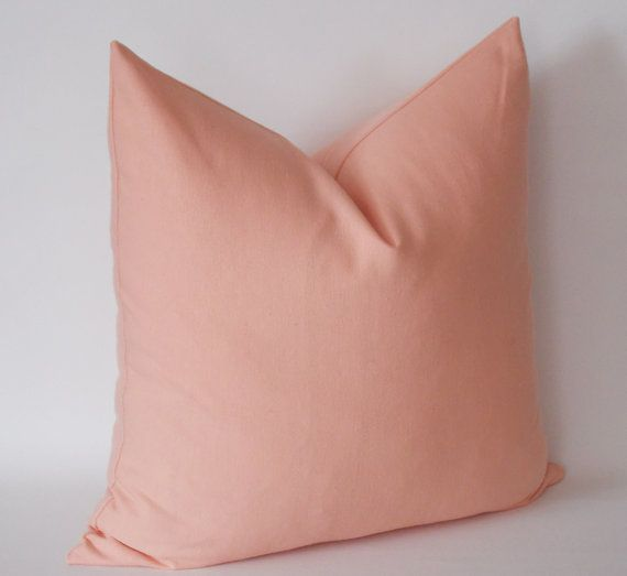 Salmon Pink Velvet Pillow Cover Pink