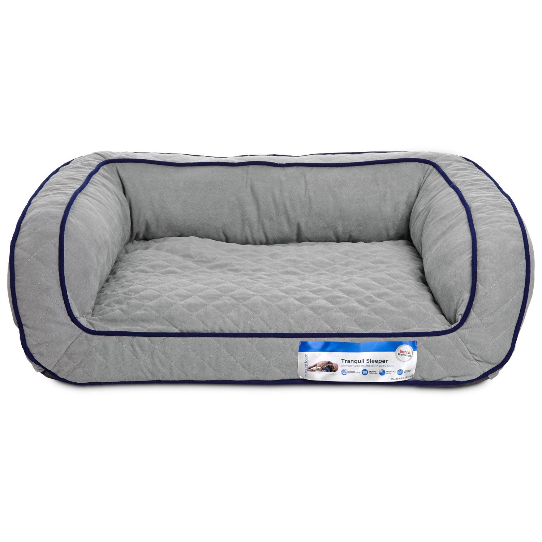 petco tranquil sleeper memory foam dog bed. 48l x 36w x 10h. big