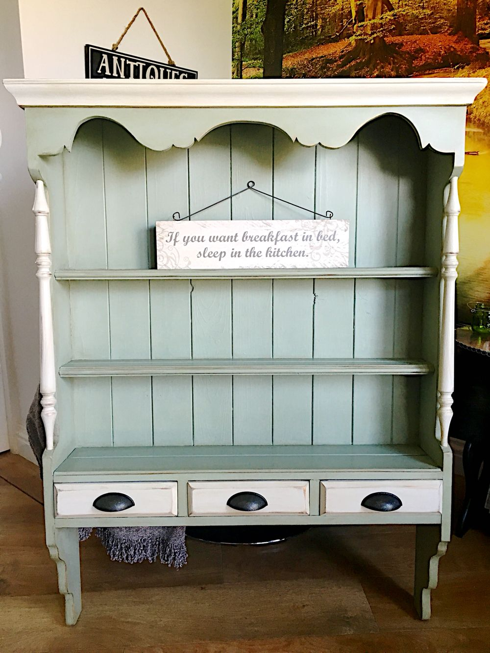 Beautiful vintage wall dresser painted in Autentico dried moss and ...