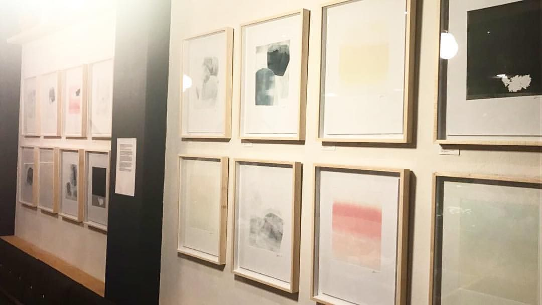 I didn't get to take too many pictures as I was too busy enjoying myself! Thankyou for all your support and ❤️! Exhibition will be up for a few months… @kleinskys everyday! Art weekend in #Capetown #southafricanartist #exhibition #monoprints...