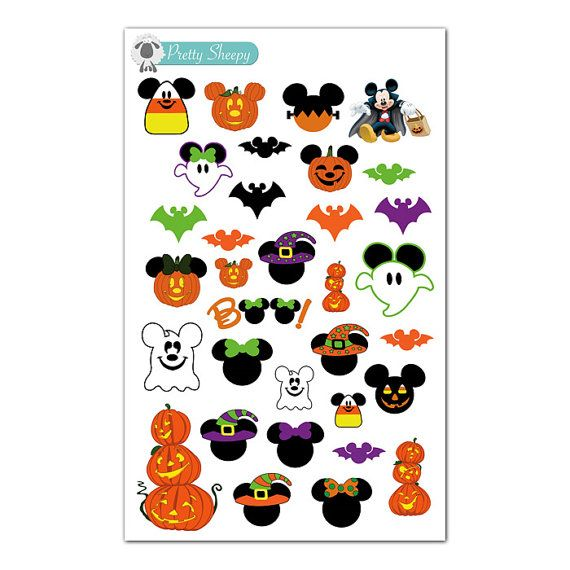 Mickey Halloween Stickers - Disney Planner Stickers