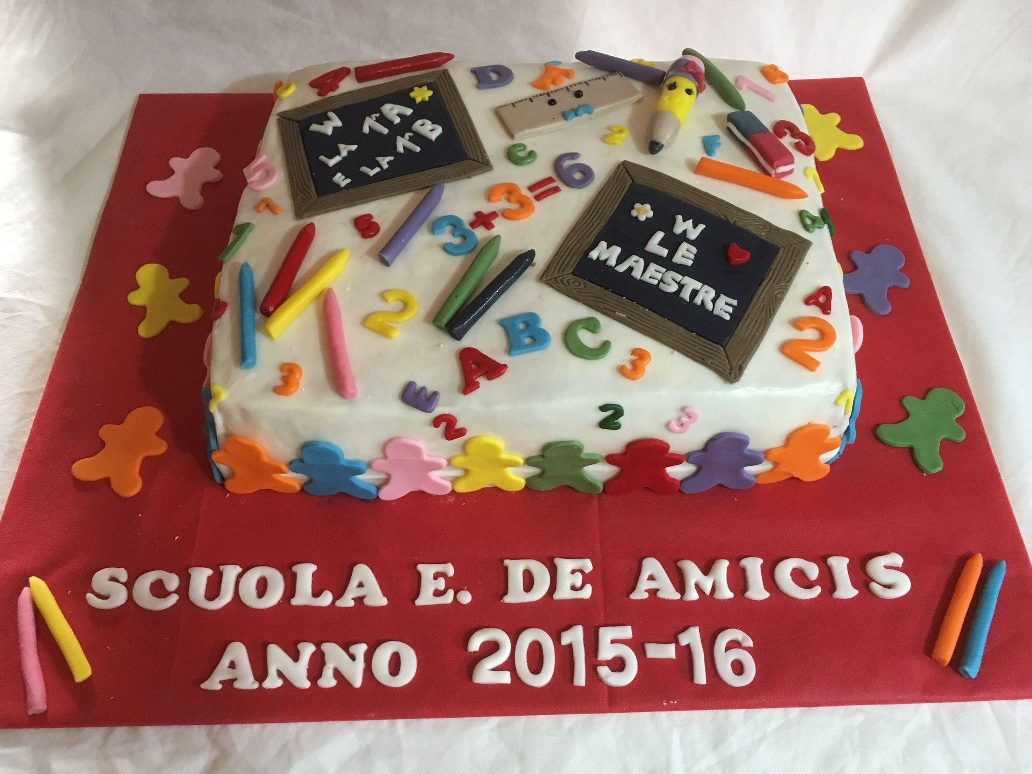 Scuola Cake Design Torino : Torta fine anno scolastico scuola elementare My cakes ...