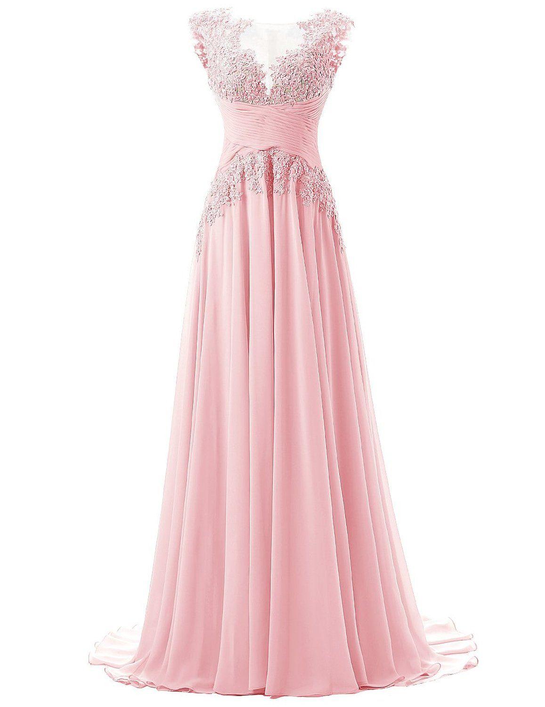 Alle Kleider abitur kleider : Dresstells Damen Lang Chiffon Promi-Kleider Maxi Abendkleider ...