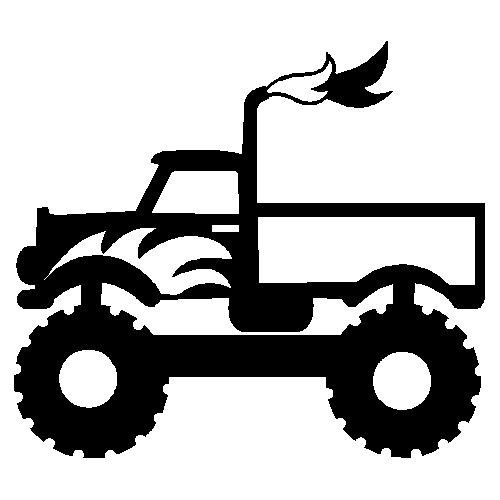 Download veloursmotief monster truck | Kids silhouette, Silhouette ...
