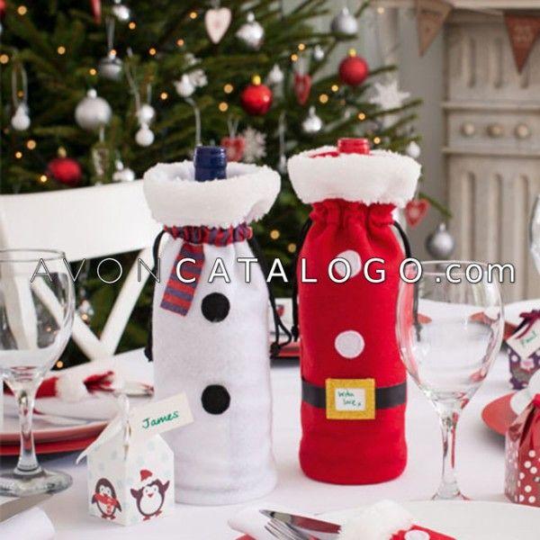 Porta botellas navide as buscar con google botellas navide as pinterest buscar con - Botellas decoradas navidenas ...