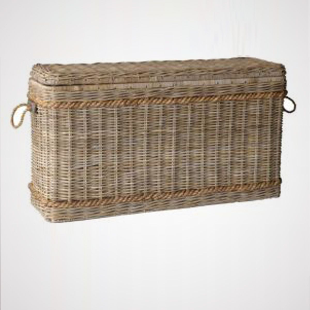 Nantucket Washed Woven Rattan Basket Extra Large ourboathouse.com 55