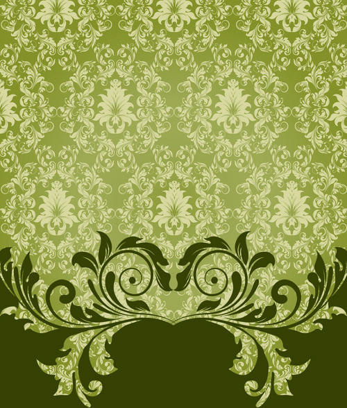 Ornate Vintage Floral Vector Backgrounds Art 04