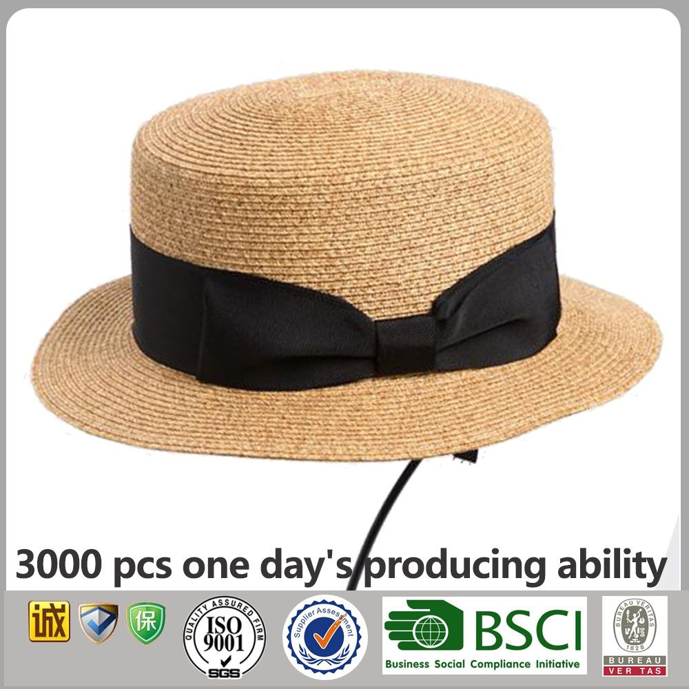 f7a15947306cb Custom Paper Straw Boater Hat China Wholesale Boater Straw Hat