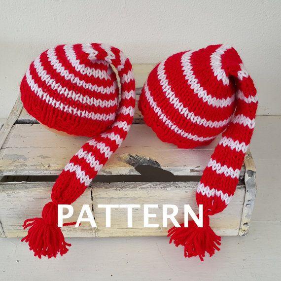 Newborn baby elf Knitting PATTERN - baby elf hat pattern - Baby ...
