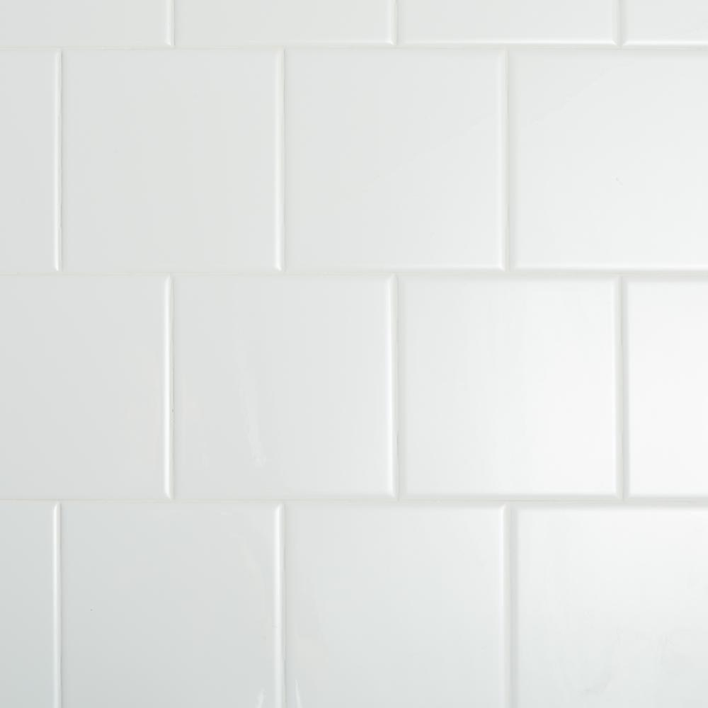 Daltile Restore Bright White 6 In X 6 In Ceramic Wall Tile 12 50 Sq Ft Case Re1566hd1p4 The Home Depot Ceramic Wall Tiles Daltile White Wall Tiles
