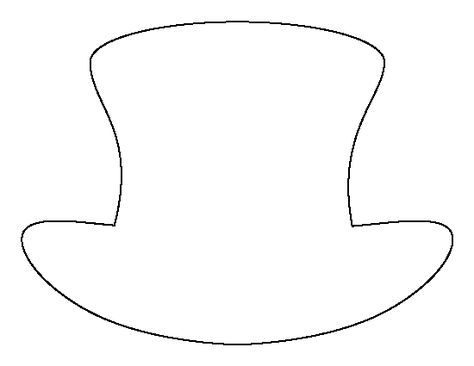 Top Hat Pattern Use The Printable Outline For Crafts Creating