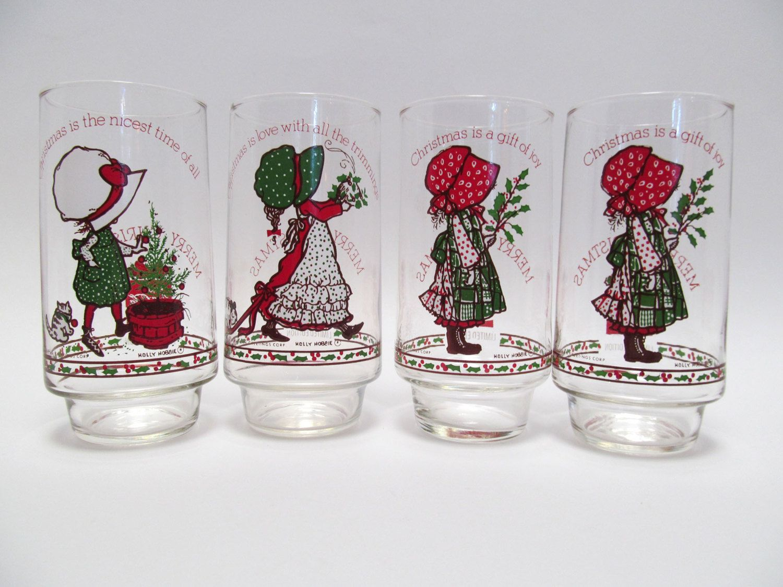 Vintage holly hobbie coca cola christmas glasses set of 4 vintage holly hobbie coca cola christmas glasses set of 4 american greetings tumblers limited reviewsmspy