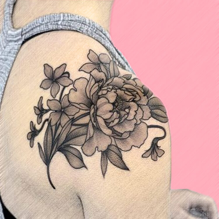 14 Colorful back shoulder Tattoo Ideas for lady's beauty
