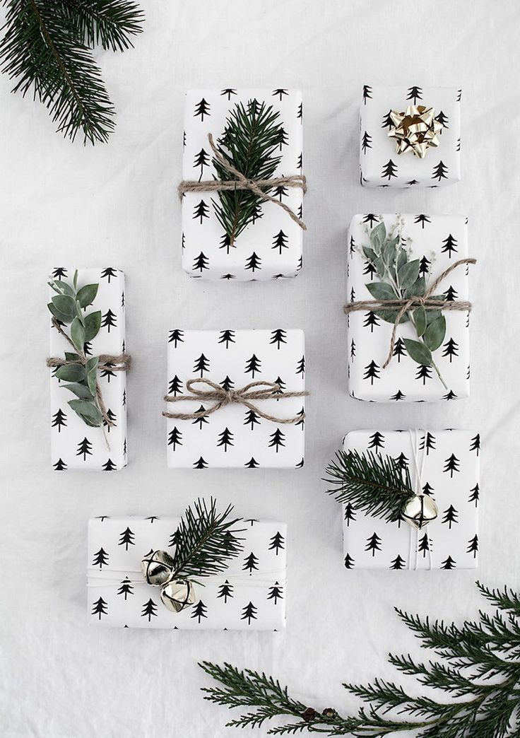 Christmas tree wrapping paper #holiday Xmas time Pinterest