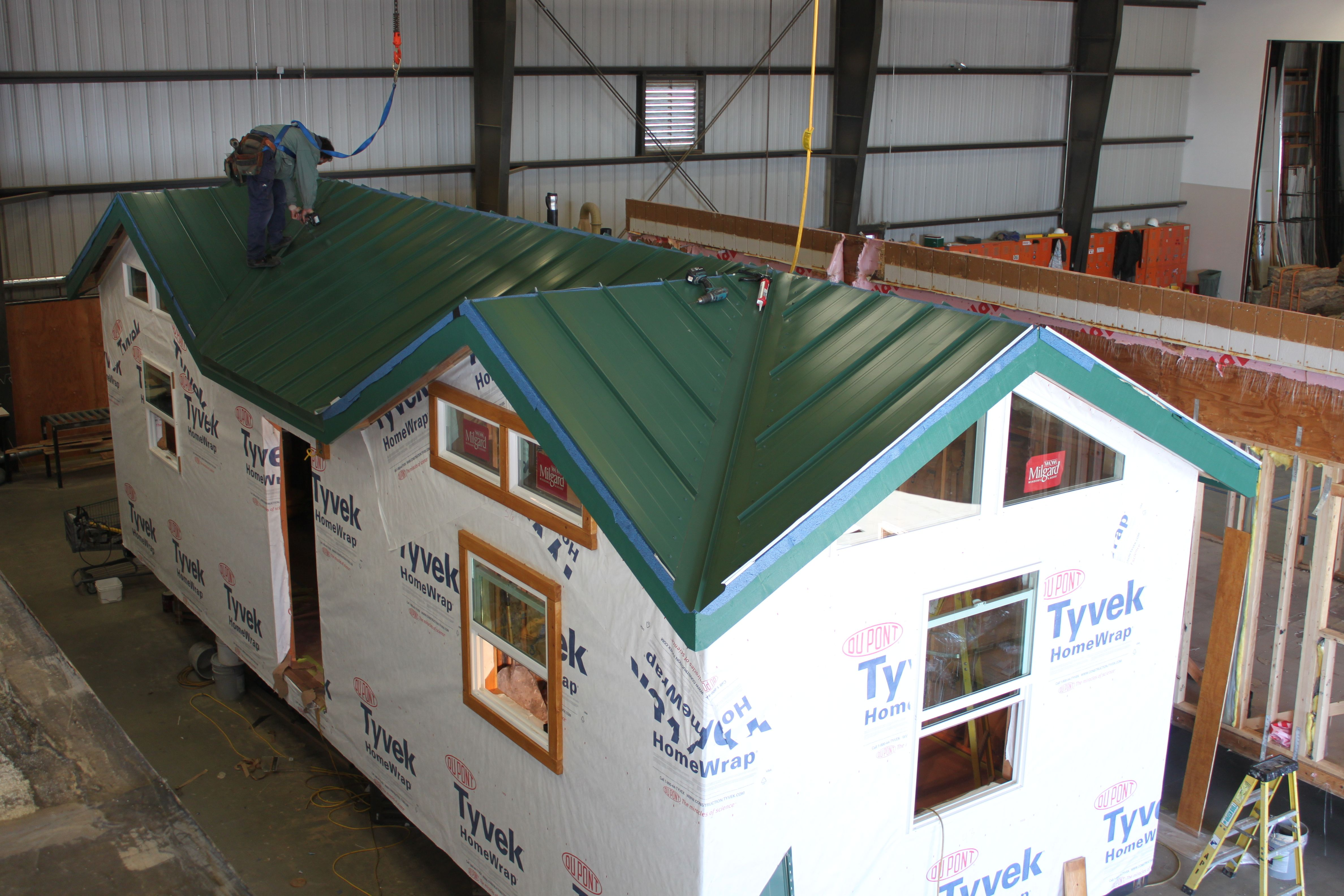 Green Tin Roof Added This Is A Two Bedroom One Bathroom Custom Cabin To Be Used As A Guest Quarters On Private Proper Building A Cabin Private Property Cabin