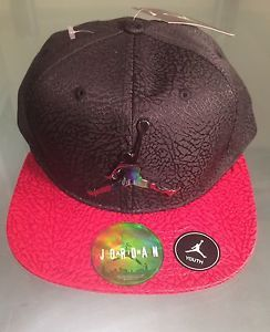 a62fb106810b30 Air Jordan Hat Nike Jumpman Elephant Print Snapback Youth Cap 8 20 Red  Black