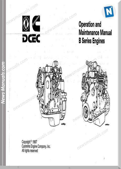 Cummins B Series Engines Operation Maintenance Manual