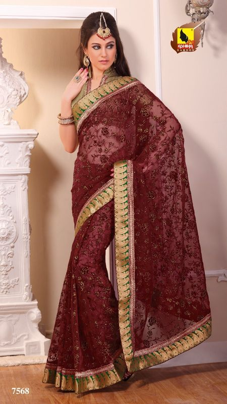 New Indian Ethnic Bollywood Sari Designer Fancy Party Saree Wedding