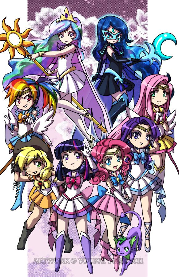 Cool Sailor Moon MLP crossover personally not an big MLP fan but I absolutely adore Sailor Moon and this is just amazing!