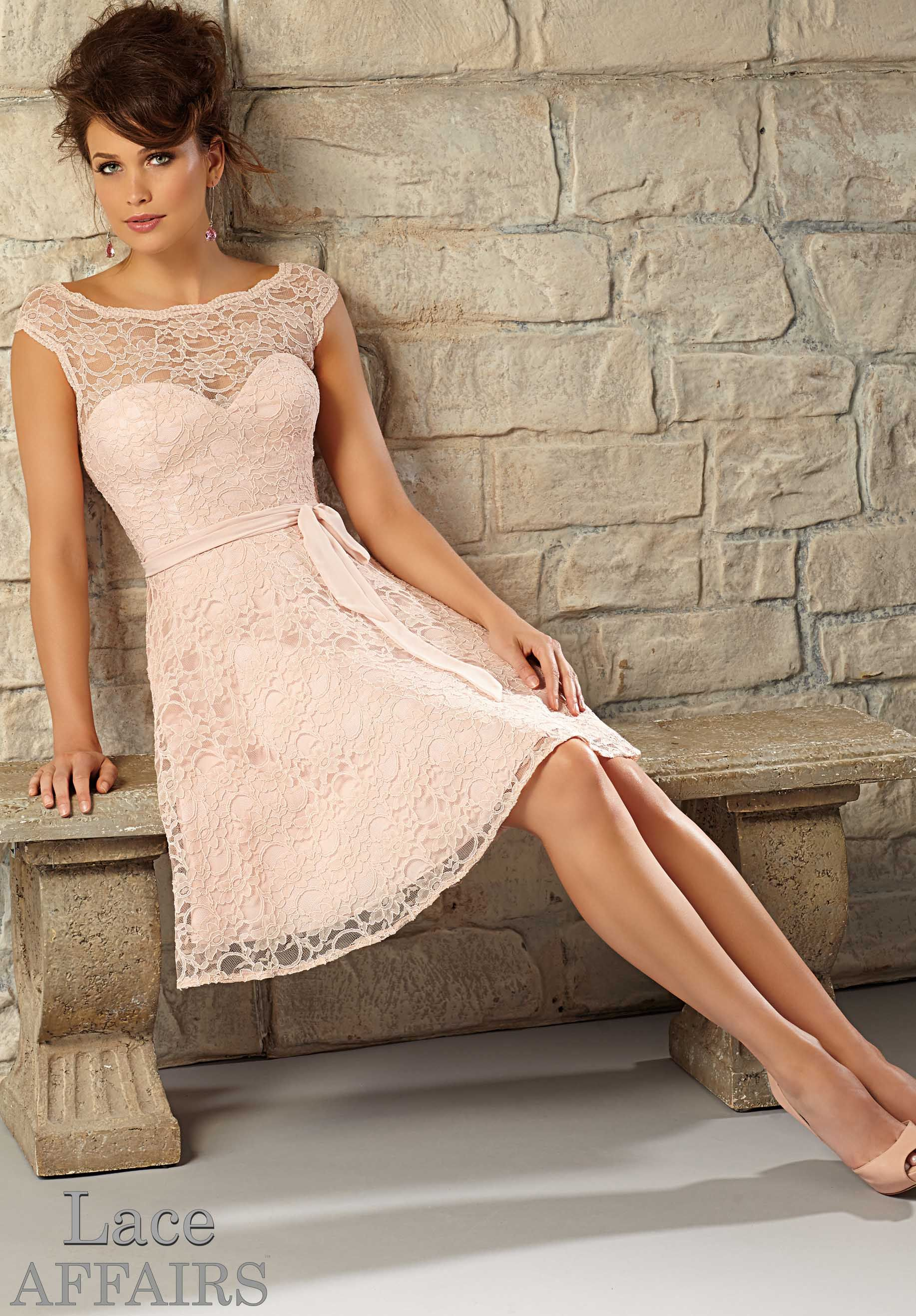 Bridesmaids Dresses Style 725: Lace http://www.morilee.com ...