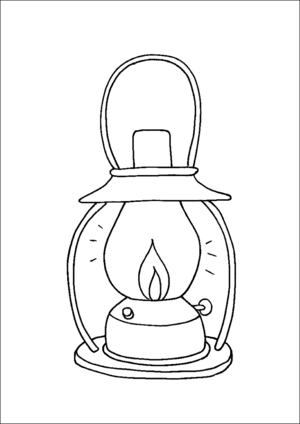 Old Kerosene Camping Lantern Printable Coloring Page Free To Download And Print Camping Coloring Pages Coloring Pages Lanterns