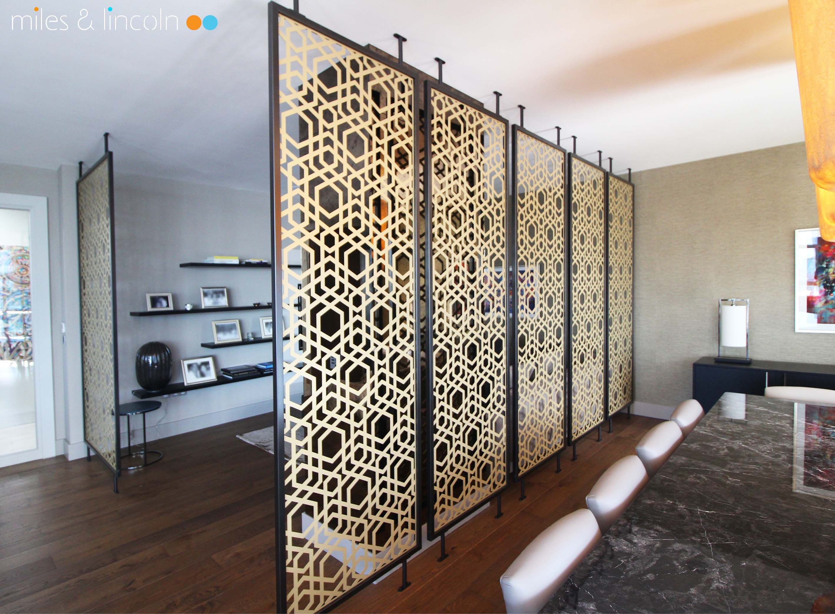 Laser cut screens - Room dividers, London - Yamuna design with ...