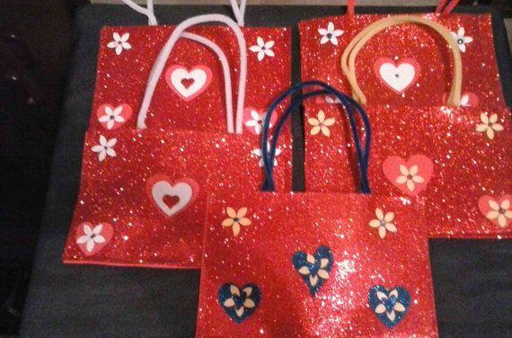 Glitter foam childs handbag for crayons and by CandeezKidzKraftz