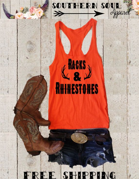 Racks & Rhinestones Country Hunting Relaxed by SouthernSoulApparel