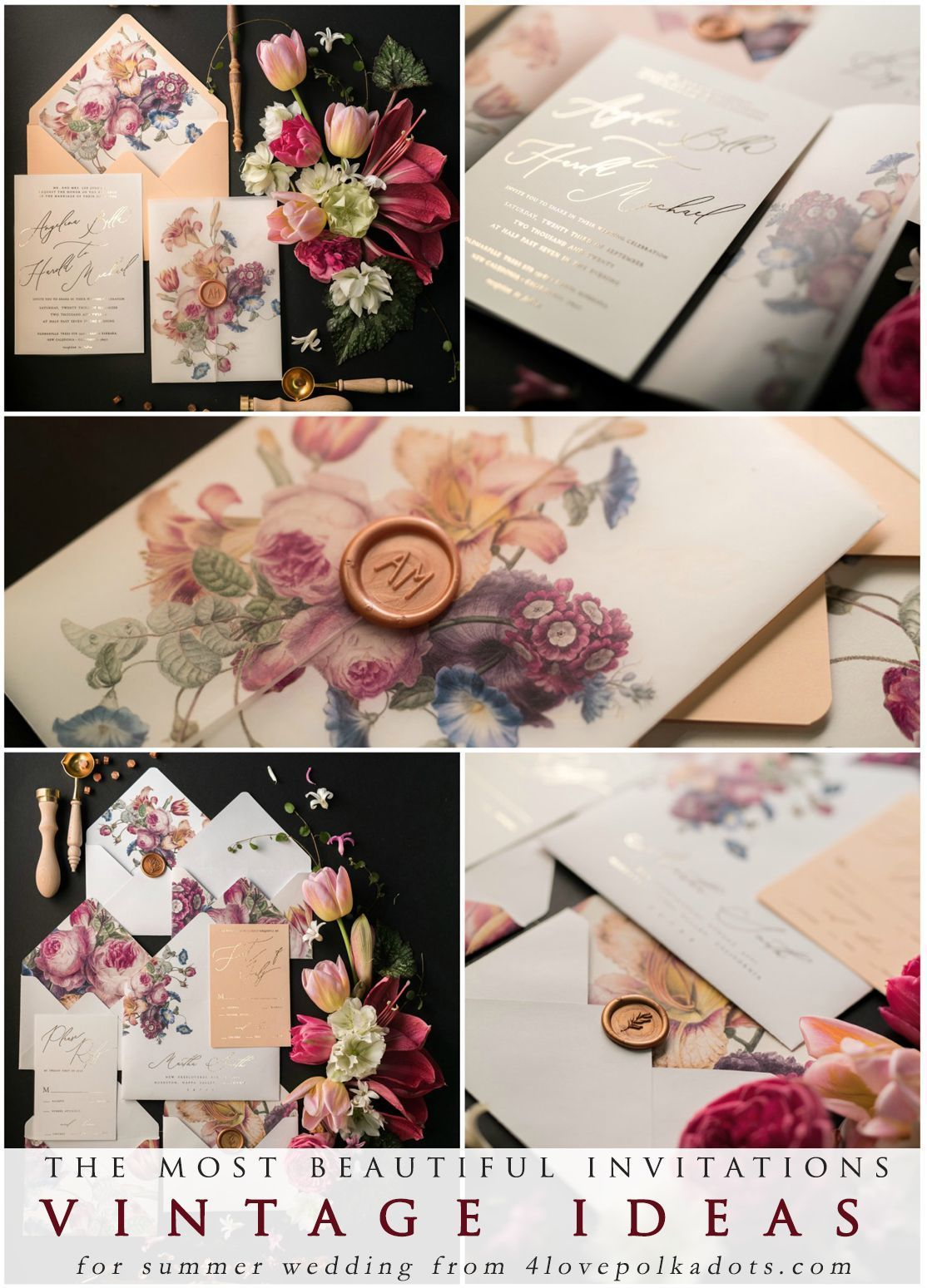 The most beautiful wedding invitations - beautiful idea for romantic ...
