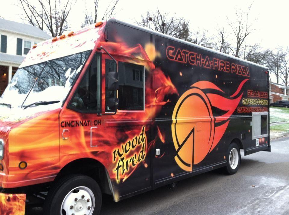 Catchafire pizza cincinnati food trucks roaming