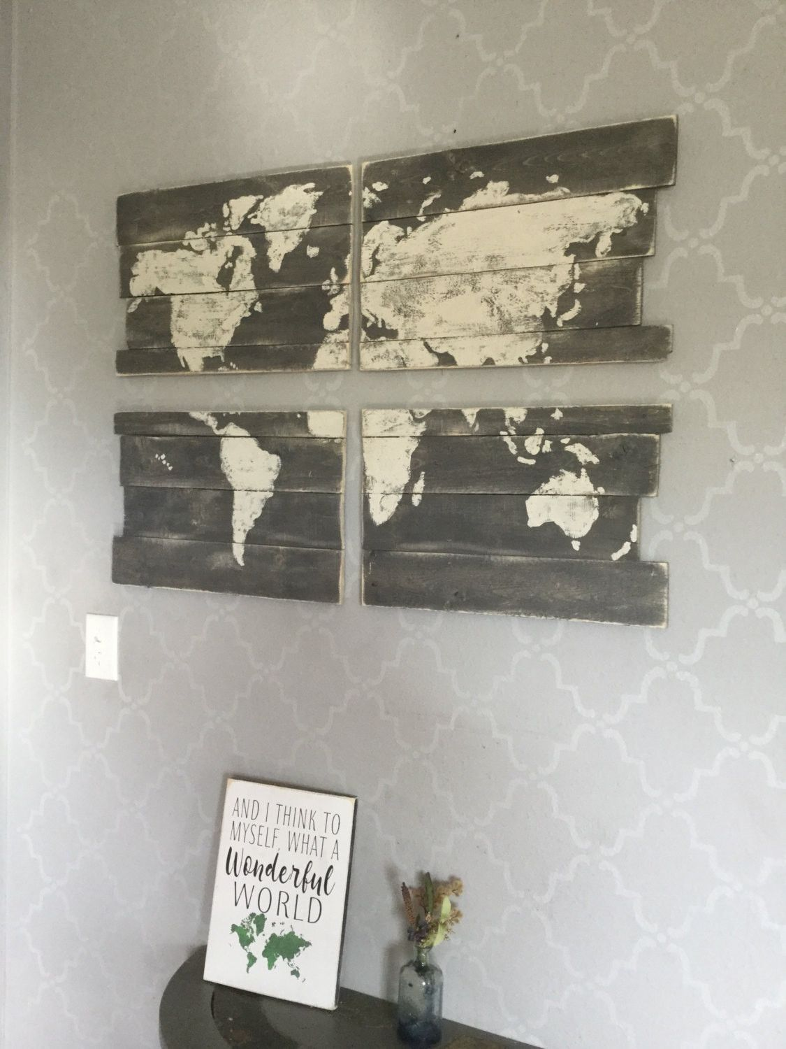 Rustic grey world map pallet world map world wooded map hand rustic grey world map pallet world map world wooded map hand painted map gumiabroncs Image collections