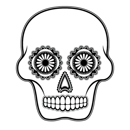 how to create a detailed vector sugar skull illustration pinterest