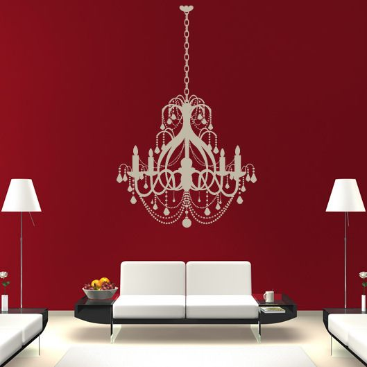 Ceiling chandelier candle old fashioned wall stickers wall art ceiling chandelier candle old fashioned wall stickers wall art decal transfers mozeypictures Gallery