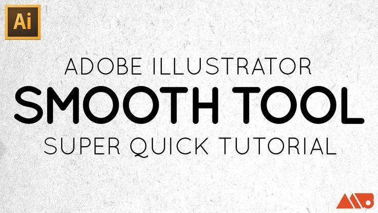 Adobe illustrator smooth tool tutorial graphic design