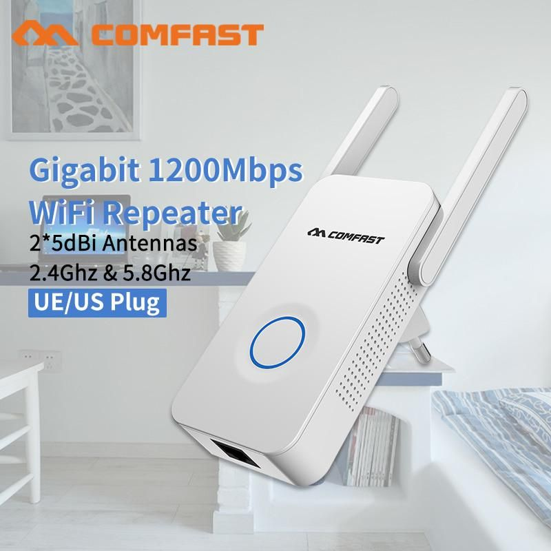 Home Wifi Repeater Ac 1200 Wireless Wi Fi Range Extender Amplifier 5ghz 802 11 B G N Ac Wifi Booster Antenna Ac Wi Fi Router With Images Wifi Booster Wifi Card Wireless Wifi Router