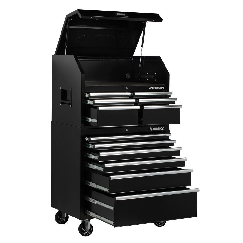 Husky 36 In W X 24 5 In D 12 Drawer Tool Chest And Rolling