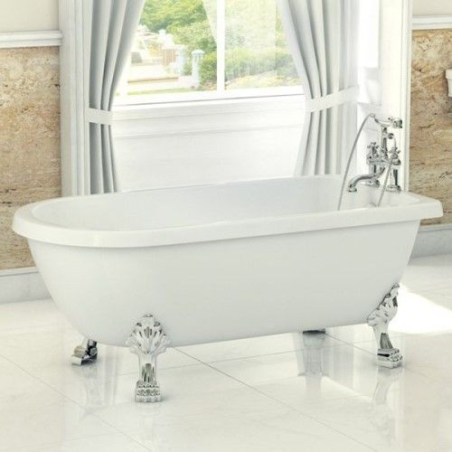 traditional english balmoral single ended roll top bath 1470mm the winner