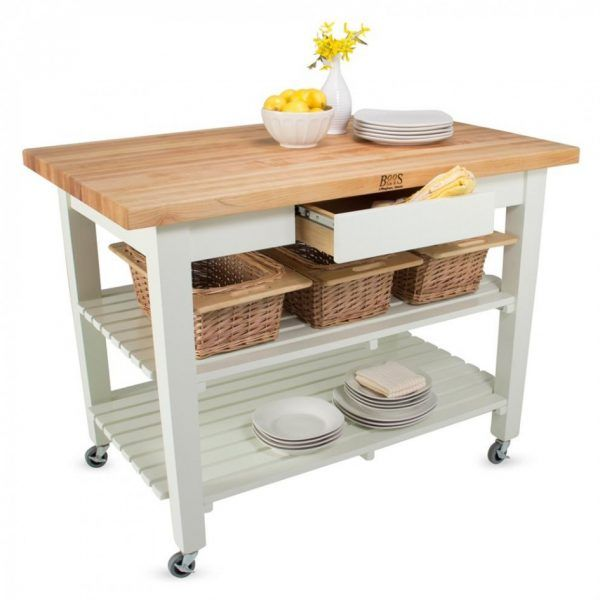 Remarkable Country Style Kitchen Shelf Unit From John Boos Products