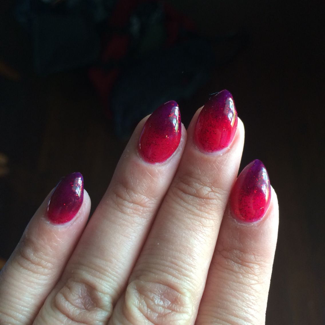 Mood color changing nail polish in scarlet star | Color ...