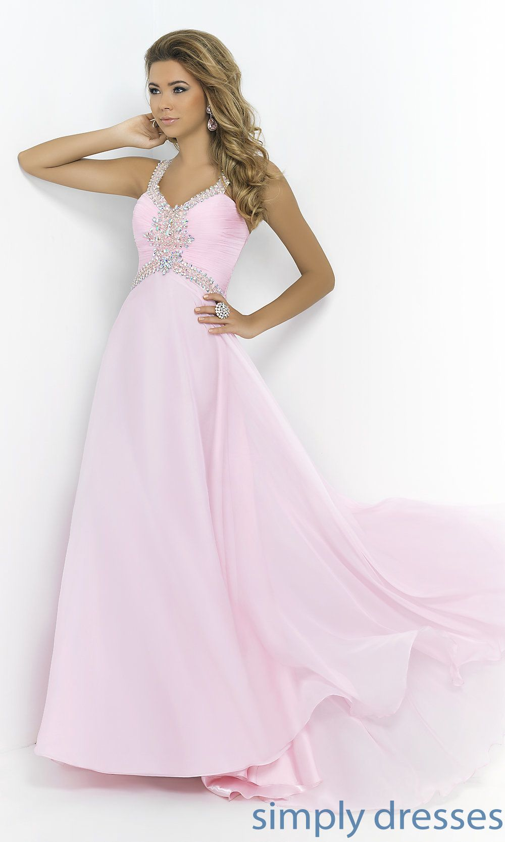 Beaded Prom Gown by Blush 9989, Pastel Prom Gown
