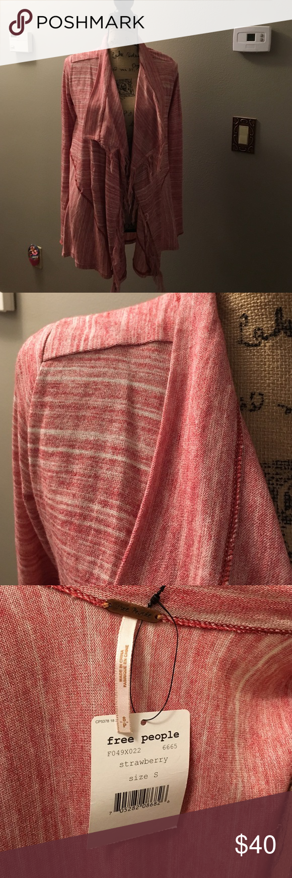 Free People NWT shawl NWT strawberry wrap/ shawl with sleeves size small Free People Jackets & Coats Capes