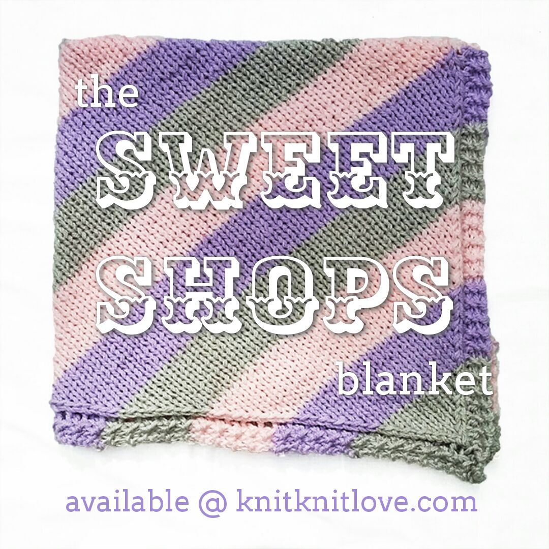 Sweet shops hand knitted baby blanket 60 diagonal color block sweet shops hand knitted baby blanket 60 diagonal color block pattern currently available bankloansurffo Image collections